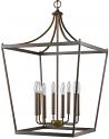 """Kennedy Oil Rubbed Bronze Lantern Chandelier 20""""Wx33""""H"""