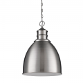 "Colby Satin Nickel Pendant Light 17""Wx25""H"