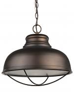 "Ansen Oil Rubbed Bronze Industrial Pendant Light 16""Wx15""H"
