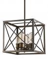 "Brooklyn Oil Rubbed Bronze Industrial Island Light 12""Wx12""H"