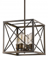 """Brooklyn Oil Rubbed Bronze Industrial Pendant Light 12""""Wx12""""H"""