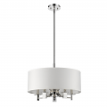 "Andrea Polished Nickel Drum Pendant Light 20""Wx13""H"