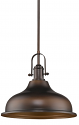 "Virginia Oil Rubbed Bronze Dome Shade Pendant 14""Wx13""H"