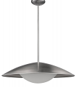 "Aurora LED Satin Nickel Opal Glass Shade Pendant 24""Wx7""H"