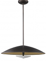 "Aurora LED ORB Bronze Antique Gold Pendant 24""Wx8""H"