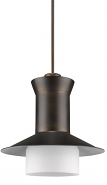 "Greta Bronze Top Hat Pendant Light 16""Wx16""H"