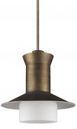 "Greta Raw Brass Top Hat Pendant Light 16""Wx16""H"