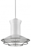 "Newport White Polished Nickel Louver Pendant 16""Wx15""H"