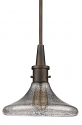 "Brielle Textured Funnel Glass Pendant Light 10""Wx10""H"