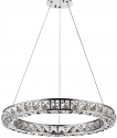 "Noemi LED Round Circle Chandelier 23""Wx2""H"