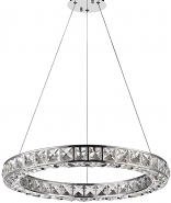 "Noemi Ring LED Crystal Chandelier 23""Wx2""H"