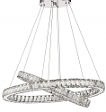 "Noemi LED Dual Round Crystal Chandelier 32""Wx32""H"