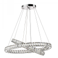 """Noemi LED Dual Round Crystal Chandelier 32""""Wx32""""H"""