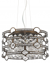 "Meghan Dual Drums Crystal Pendant Light Bronze Frame 16""Wx10""H"