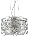 "Meghan Dual Drums Crystal Pendant Light Nickel Frame 16""Wx10""H"