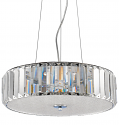 "Erin Crystal & Polished Nickel LED Drum Chandelier 18""Wx7""H"