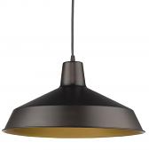 "Alcove Oil Rubbed Bronze Industrial Pendant Light 16""Wx9""H"