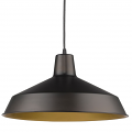 "Alcove Oil Rubbed Bronze Industrial Pendant Light 16""Wx9""H"