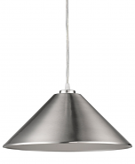 "Alcove Satin Nickel Industrial Pendant Light 13""Wx7""H"