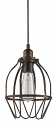 "Loft Bronze Wire Cage Bar Light 7""Wx11""H"