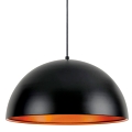 "Satin Black & Copper Pendant Light 20""Wx9""H!"