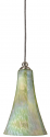 "Mottled Sea Green Glass Mini Pendant Light 5.4""Wx8""H - Sale !"