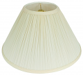 "Pleated Coolie Lamp Shade Cream, White 16-24""W"