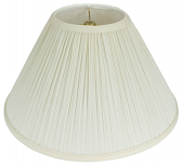 "Mushroom Pleated Coolie Lamp Shade Cream, White 16-24""W"