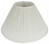 "Off White Mushroom Pleated Coolie Lamp Shade 18""W - Sale !"