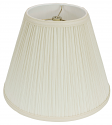 "Mushroom Pleated Hardback Lamp Shade USA Made 18""W - Sale !"
