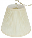 "Mushroom Pleated Tapered Empire Swag Lamp 12-18""W"