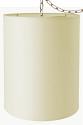 "Natural Homespun Linen Tall Cylinder Drum Swag Lamp 12""Wx17""H"