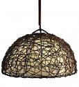"""Iron Nito Vine Cocoa Leaf Dome Pendant Light 20""""Wx14""""H #664"""