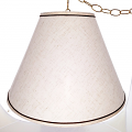 "Off White Brown Accents Swag lamp 17""W"