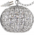 "Olivia Crystal Ball Plug In Pendant Light 10""Wx8""H"