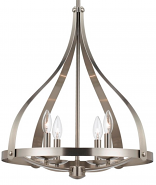 "Brushed Steel High Ceiling Foyer Chandelier 19""W - Sale !"