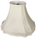 "Gallery Oval Inverted Cut Corners Silk Lamp Shade Cream, White, Tan 14-18""W"