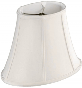 "Silk Oval Bell Lamp Shade, Cream, White, Black 10-18""W"