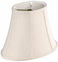 "Oval Bell Silk Lamp Shade, Cream, White, Black 10-18""W"