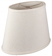 "Natural Homespun Linen Oval Lamp Shade Cream, White, Beige 12-18""W"