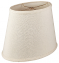 "Linen Oval Lamp Shade Cream, White, Beige 12-18""W"