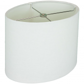 """White Linen Oval Lamp Shade 10-18""""W"""