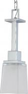 "Parker Polished Chrome Etched Glass Mini Pendant Light 5""Wx17""H"