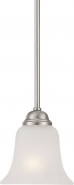 "Elizabeth Brushed Nickel Frosted Glass Mini Pendant Light 6""Wx11""H"