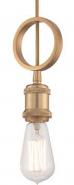 "Paxton Natural Brass Edison Bulb Mini Pendant Light 5""Wx11""H"