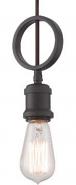 "Paxton Aged Bronze Edison Bulb Mini Pendant Light 5""Wx11""H"