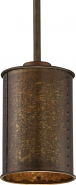 "Kettle Weathered Brass Drum Mini Pendant Light 6""Wx45""H"