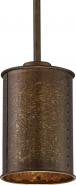 "Kettle Weathered Brass Drum Mini Pendant Light 6""Wx45""H"