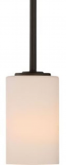 "Willow Aged Bronze White Glass Mini Pendant Light 4""Wx45""H"
