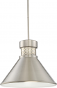 "Dorel LED Brushed Nickel Pendant Light 14""Wx11""H"